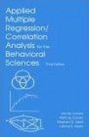 Applied Multiple Regression/correlation Analysis for the Behavioral Sciences -- Bok 9780805822236