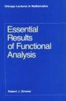 Essential Results of Functional Analysis -- Bok 9780226983387