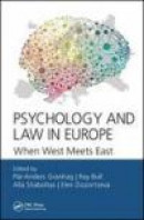 Psychology and Law in Europe: When West Meets East -- Bok 9781498780988